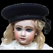 Original Antique French Normandie Mariners Beret Hat for Jumeau Steiner Bisque Doll