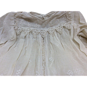 Two Antique Doll Dresses TLC for French or German Bisque dolls