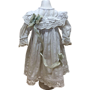 "Exquisite12""  Antique French Dress for French Bisque Doll Jumeau FG Steiner"