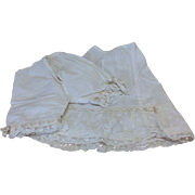 Antique Ribbon Trimmed Slip & Pantaloon Set for French or German Bisque Doll