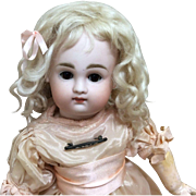 """Petite Pouty Face Kestner Child Early Body 13.5"""" Wonderful German Bisque Doll"""