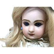 "Petite 14"" Sz 5 Depose Tete Jumeau Closed Mouth french Bisque Doll"