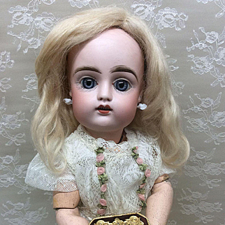 Small Vintage Box for French or German Bisque doll display