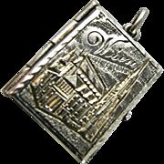 RARE Antique Austrian Vienna Wien Photo Frame Souvenir Continental Silver - Pendant or Bracelet Charm -  Victorian or Edwardian
