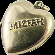 Antique 9k Rose Gold Heart MIZPAH Locket Sentimental Love Token  Victorian Era Mourning Memorial Memoriam Hair Photo