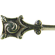Vintage Dirk Scottish Sterling Silver Brooch Pin Robert Allison Hallmarked 1947