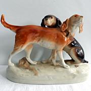 Royal Dux Porcelain Figures of Hounds