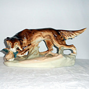 Royal Dux Porcelain Figure of a Setter with Game Bird