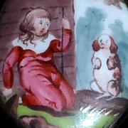 Battersea Bilston Enamel Box, Circa 1800