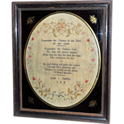 George III Verse Sampler Dated 1804