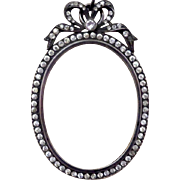 Late 19th Century Miniature Picture Frame with Paste Diamonds and Bow - Red Tag Sale Item