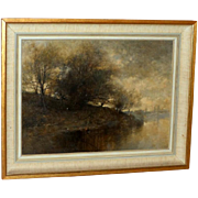 Impressionistic Misty River Landscape, by John Finnie, RE