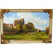 "Vintage Scottish Landscape:  ""Craigmillar Castle, Edinburgh"""