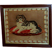 19th Century Victorian Woolwork Portrayal of Dash, the Queen's King Charles Spaniel