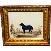 "The Dog, ""Hector,"" a RARE Early- to Mid-19th Century Hand-Cut Silhouette by Frith"