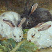 Portrait of Three Grazing Rabbits, by Hope K. Ritchie