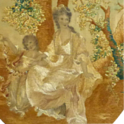 Early 19th Century Georgian Romantic Silkwork Picture