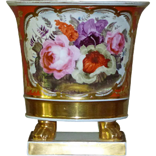 Early 19th Century Porcelain Cache-Pot on Stand