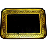 Mid-19th Century Victorian Gilded Border Papier Mache Tray