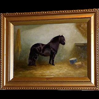 "Portrait of the Pony, ""Flourish,"" by Edith A. Simkins"