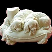 "Mid-19th Century Copeland Parian Ware Model of Landseer's ""Cavalier's Pets"""