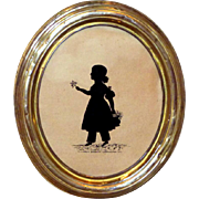 Early Victorian Brass-Framed Silhouette Dated 1837