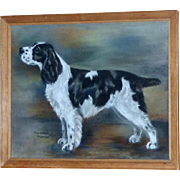 "Pastel Portrait of the Dog, ""Highbirch Trotter"""