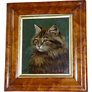 Portrait of a Tabby Cat, Dated 1905, by Walter H. Wheeler
