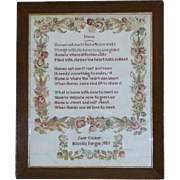 Victorian Verse Sampler with Large Flowered Border