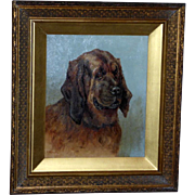 Victorian 19th Century Portrait of a Bloodhound