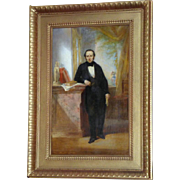 19th Century Continental Portrait of a Gentleman in an Interior