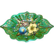 Early- to Mid-19th Century Jennens and Bettridge Small Fluted Papier Mache Dish