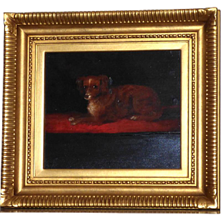 Late 18th Century Portrait of a King Charles Spaniel