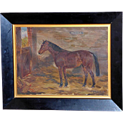 "Portrait of the Horse, ""Topper,"" by William Wasdell Trickett"