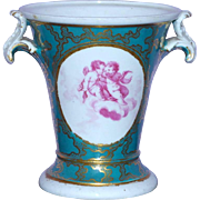 Early 19th Century Porcelain Vase with Hand-Painted Putti