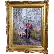 Traditional English Hunting Scene, by Anne Bowen - Red Tag Sale Item