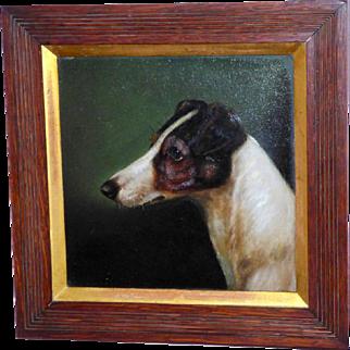 Portrait of a Jack Russell Terrier, by E. Aistrup