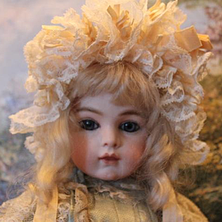 "Beautiful French Antique Lace doll bonnet, for your 12-13"" head circumference doll."