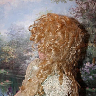 "Blond Mohair long tails Extensions doll wig, unused condition! Curls! Fits a 12"" head circumference!"