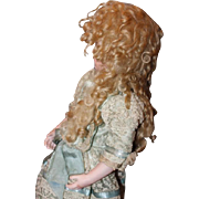 """Blond Mohair long tails Extensions doll wig, unused condition! Curls! Fits a 12"""" head circumference!"""