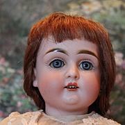 "Early model, Small Alphabet German bisque head Antique Kestner doll, beautiful face, only, 13"" tall, plaster pate, sleep eyes, no hairlines, 2 fingers have damage."