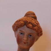 "8 1/4"" tall Schoenhut Circus Lady Rider,  Bisque Head Version, All Original Clothes"