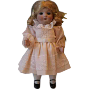 "German Antique All Bisque Doll, sleepeyes, painted socks and shoes, 6 1/2"" tall, no damage!"