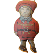 "Hold for Erika!! Rare and hard to find Buster Brown Shoes Advertising Memorabilia from 1920's era, cloth pillow of Buster Brown Boy doll,  model, figure.  1920"", couldn't find any other on any sites!"
