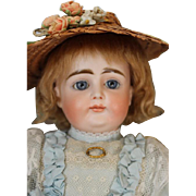"""Rare Closed Mouth Kestner X doll, with articulated ankles on the 8 ball jointed Kestner Body! 15"""" tall! Beautiful face!"""