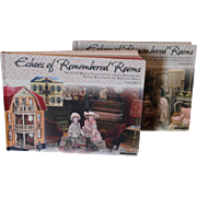 Echos of Remembered Rooms, Theriaults Catalogs, 2 hardcover books, prices realized, all antique Doll House, furniture, and accessories. Doll Publication books on doll house furniture, accessories.