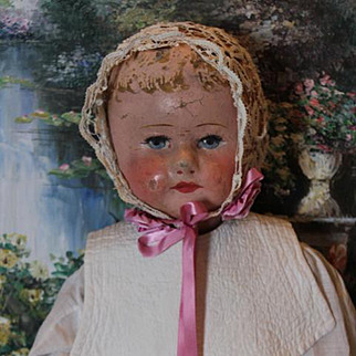 """23 1/2"""" Martha Chase Baby doll, tagged body, very nice condition on the body, painted hair is  missing in places on the head. Hand painted from the Chase factory."""