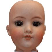 Armand Marseille A. M. Antique doll head only. German bisque Doll head. #390 mold, new plaster for set brown eyes.