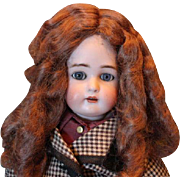 "Vintage synthetic doll wig for an 11"" head circumference. Not human hair. Nice warm brown color, chocolate color! No doll included."
