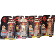 Group of 4 Star Wars Episode 1 Battle Droids. 3 Blaster rifles with binoculars. Figures now talk with the chip provided.